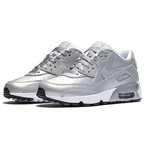 cheap for discount 724c4 25ebb Nike Shoes - Nike Air Max 90 SE Leather Silver Pack Sz. 5.5Y